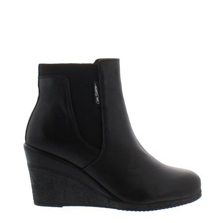 Marietta black leather ankle boots  - Click to view a larger image