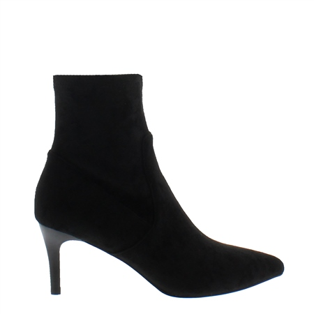 Tunella Black Faux Suede Sock Ankle Boot  - Click to view a larger image