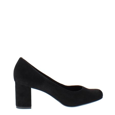 Yvette Black Suede Court Shoes