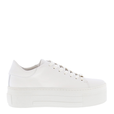 Polina White Leather Trainers  - Click to view a larger image
