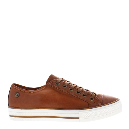 Coraline Brandy Leather Trainers  - Click to view a larger image