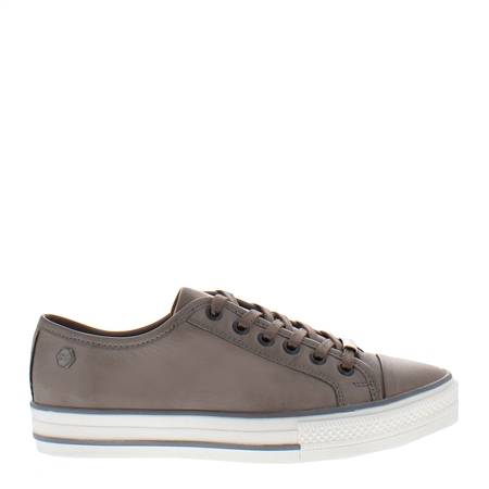 Coraline Grey Leather Trainers