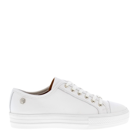 Coraline White Leather Trainers