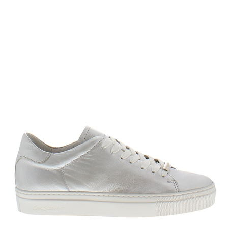 Marina Silver Leather Trainers