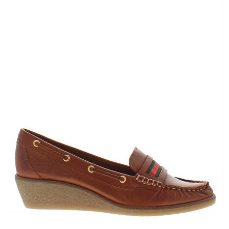 Remi Brandy Leather Loafers  - Click to view a larger image