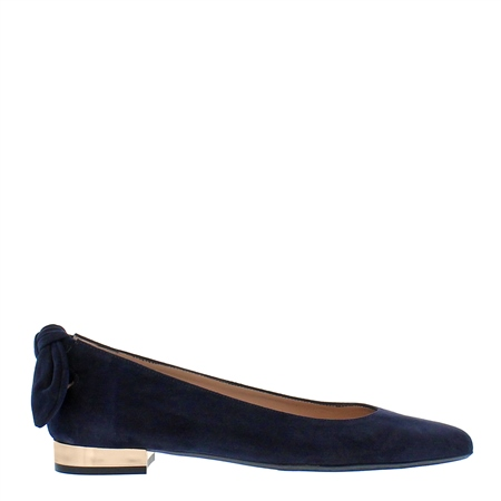 Amy Navy Suede Flat Shoes Exclusive