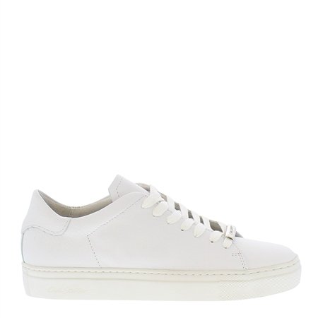 Marina White Leather Trainers