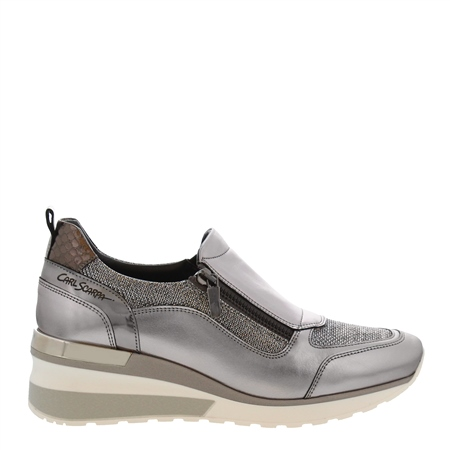 Abbey Chrome Metallic Trainers  - Click to view a larger image