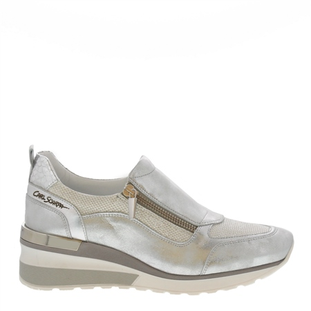 Abbey Silver Metallic Trainers  - Click to view a larger image