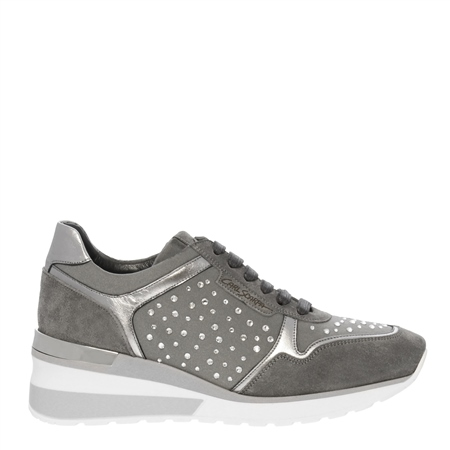 Alexandra Chrome Wedge Trainers  - Click to view a larger image