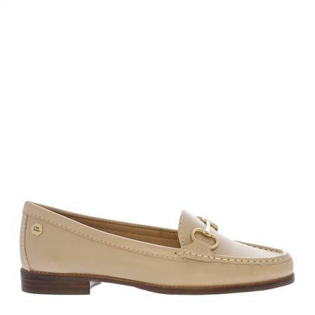 Aubree Beige Leather Loafers  - Click to view a larger image