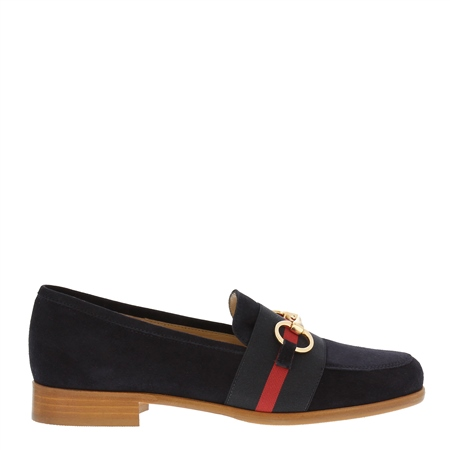 Charlotte Navy Suede Loafers  - Click to view a larger image