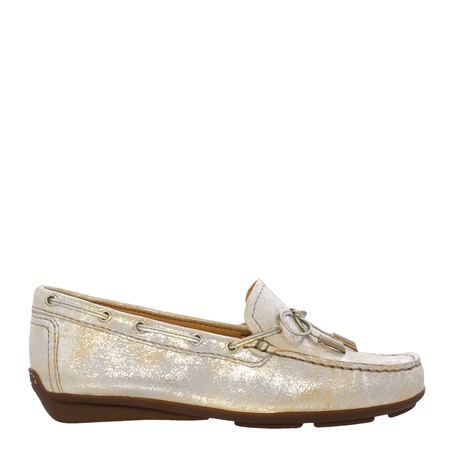 Misha Silver Nubuck Leather Loafers  - Click to view a larger image