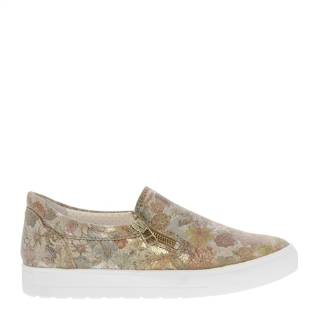 Orsa Floral Print Slip-On Trainers  - Click to view a larger image