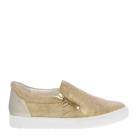 Orsa Gold Slip-On Trainers  - Click to view a larger image