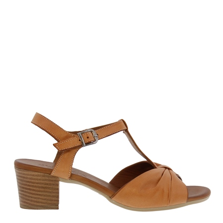 Gwen Tan Leather Sandals  - Click to view a larger image
