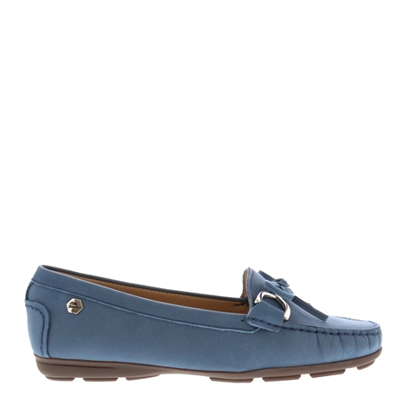 Harper Blue Suede Loafers  - Click to view a larger image