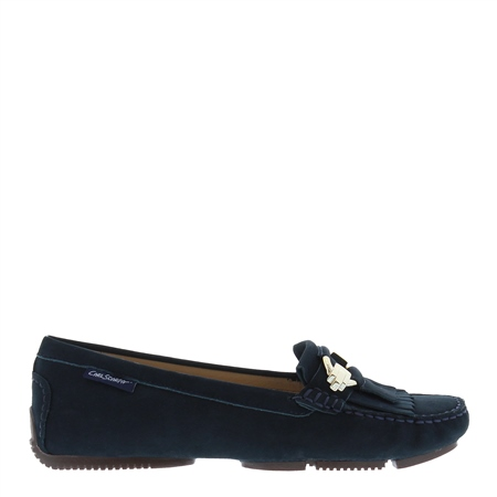 Ramona Navy Suede Loafers