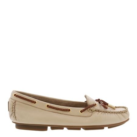 Rochelle Beige Leather Loafers