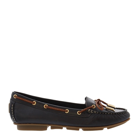 Rochelle Navy Leather Loafers