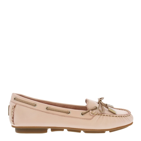 Rochelle Rose Leather Loafers