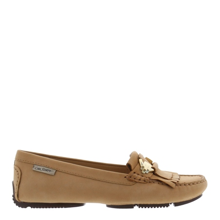 Ramona Beige Suede Loafers  - Click to view a larger image
