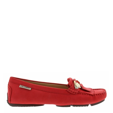 Ramona Red Suede Loafers  - Click to view a larger image