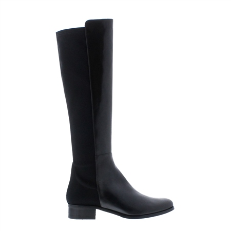 Nicolette Black Leather Knee-High Boots  - Click to view a larger image