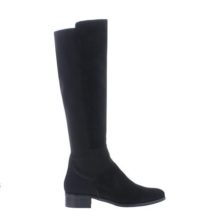 Nicolette Black Suede Knee-High Boots