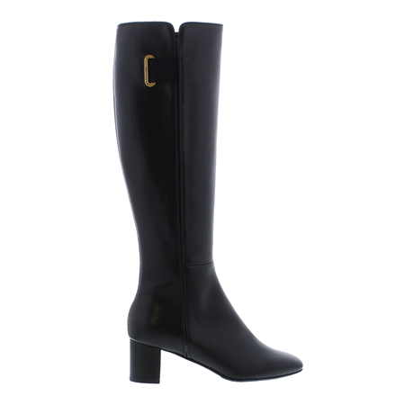 Padma Black Leather Knee-High Boots  - Click to view a larger image