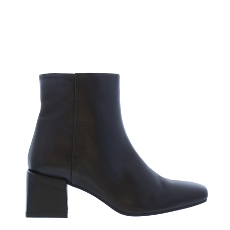 Quelina Black Leather Ankle Boots  - Click to view a larger image