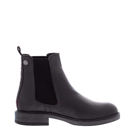 Quinn Black Leather Chelsea Boots  - Click to view a larger image