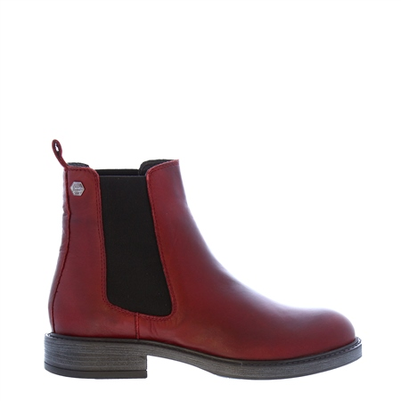 Quinn Burgundy Leather Chelsea Boots  - Click to view a larger image