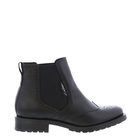 Ravenna Black Leather Chelsea Boots  - Click to view a larger image