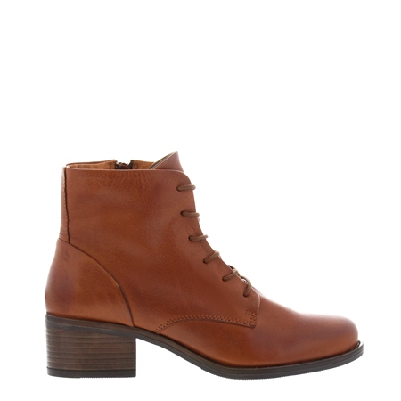 Roberta Tan Leather Lace-Up Ankle Boots  - Click to view a larger image