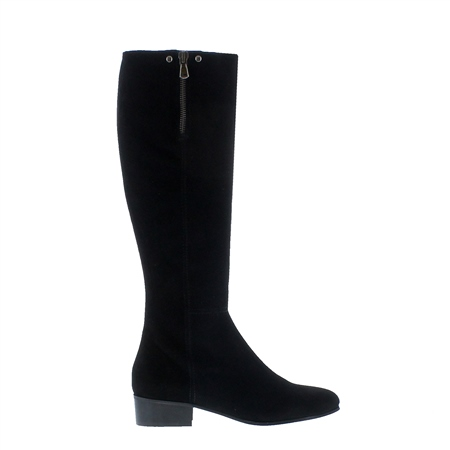 Valinda Black Suede Knee-High Boots  - Click to view a larger image
