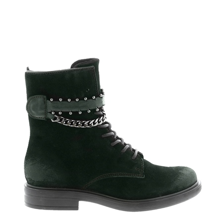 Azora Green Suede Ankle Boots  - Click to view a larger image