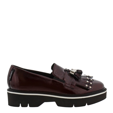 Neroli Burgundy Patent Leather Loafers  - Click to view a larger image