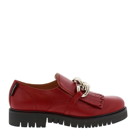 Nicole Red Patent Leather Loafers  - Click to view a larger image