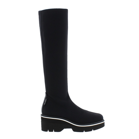 Macey Black Knee High Boots  - Click to view a larger image