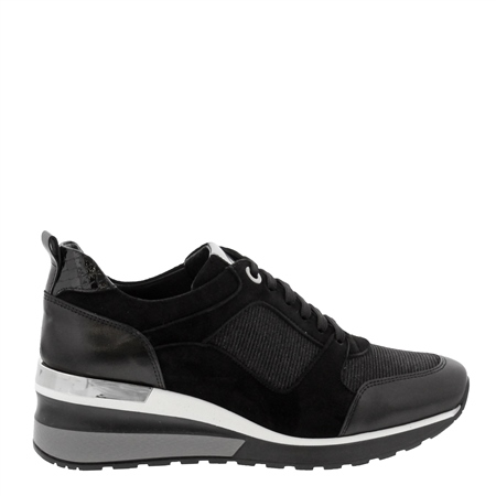 Nalani Black Wedge Trainers