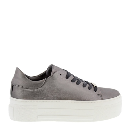 Polina Chrome Leather Trainers  - Click to view a larger image