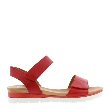 Tilly Red Leather Sandals 1