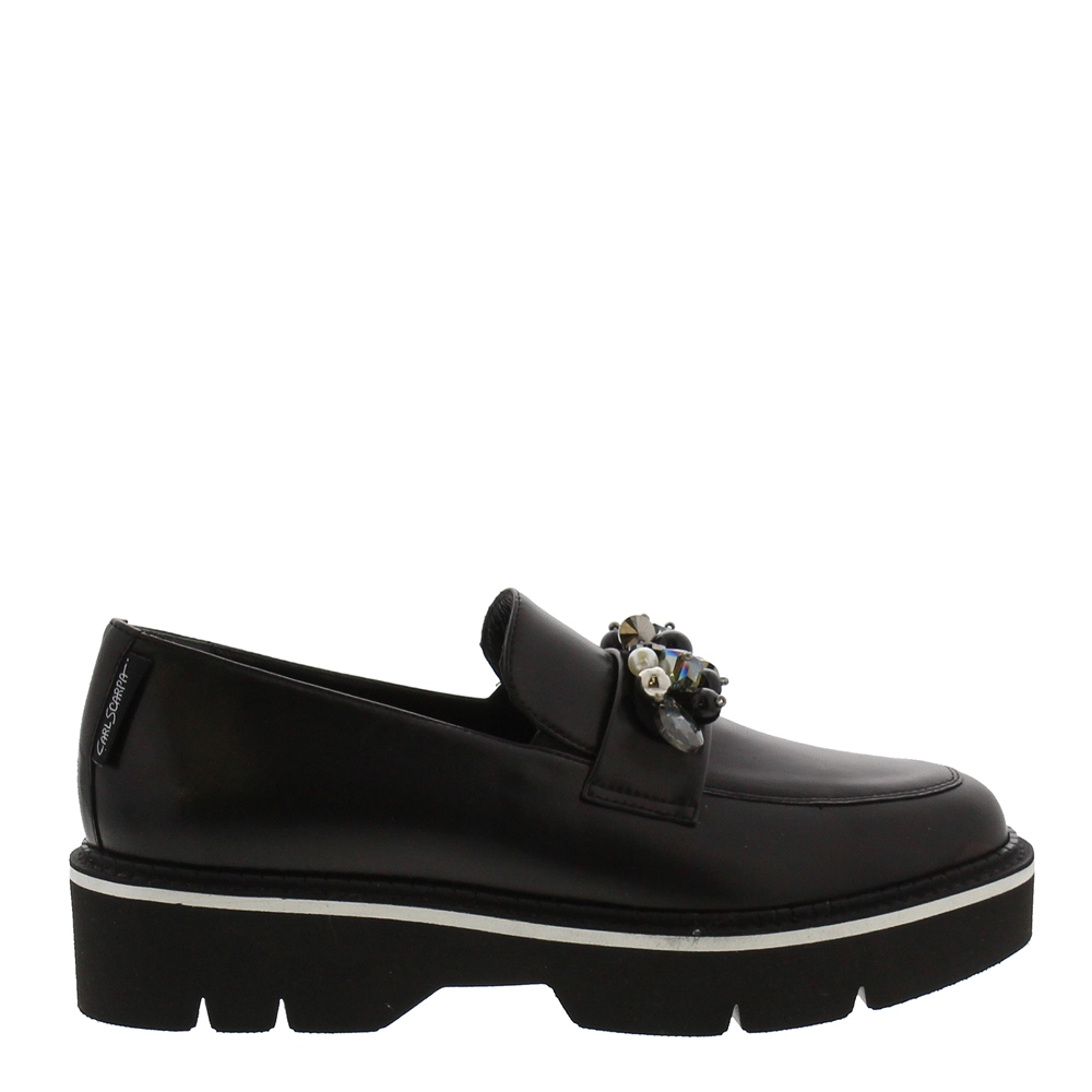 Nilah Black Leather Loafers 1