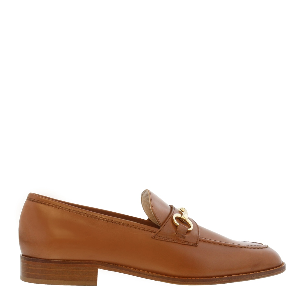 Tayana Tan Leather Loafers 1